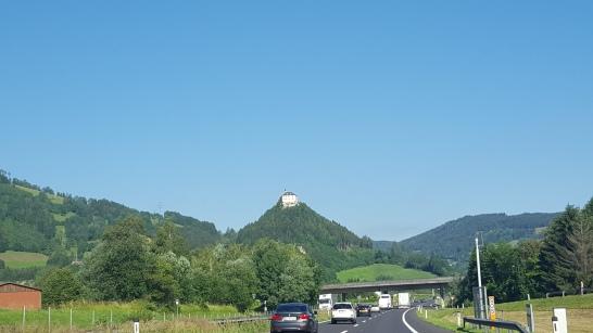 Auf der Fahrt nach Spielberg.