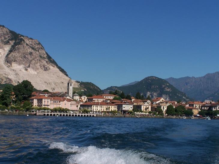 Mit dem Boot auf dem Lago Maggiore.