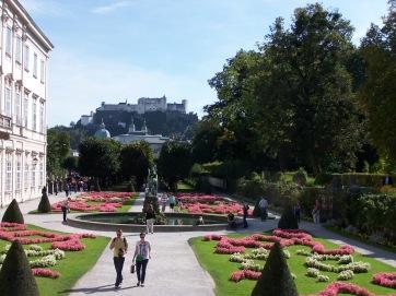 Der Mirabellgarten in Salzburg.