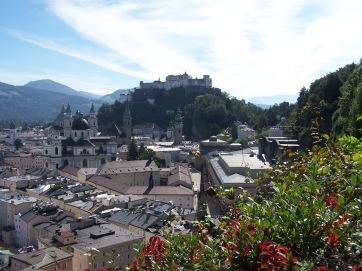 Blick auf den Mönchberg in Salzburg.