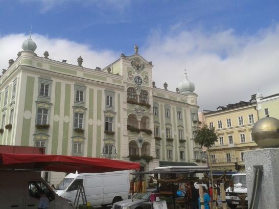 Das Rathaus von Gmunden.