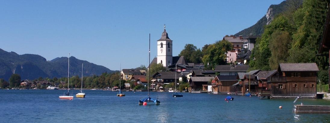 Der Wolfgangsee im Salzkammergut.
