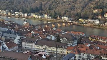 Blick vom Heidelberger Schloss auf den Neckar