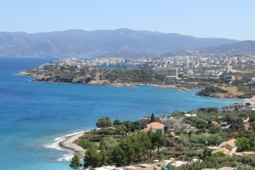 Agios Nikolaos - Blick von der Küstenstraße