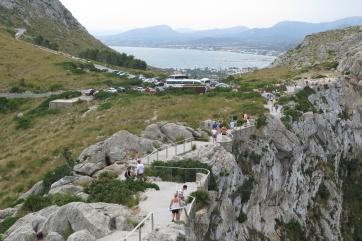 Kap Formentor, Blick Richtung Inland: Port de Pollenca