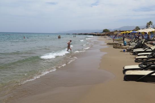 Der Strand von Chersonisos.