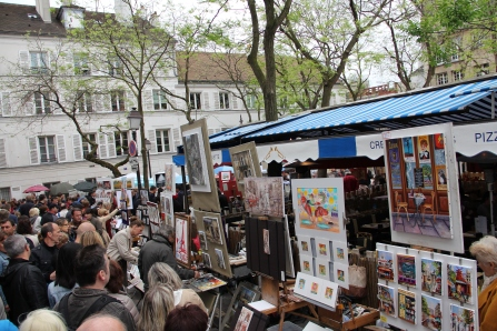 Der Künstlermark hinter Sacre-Coeur