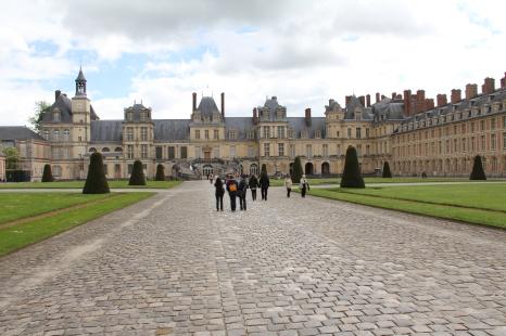 Das Schloss Fontainebleau bei Paris