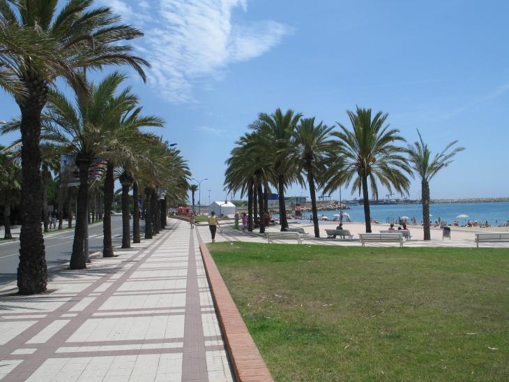 Die Strandpromenade Salou