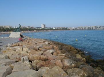 In der Stadt Salou - endlich am Strand