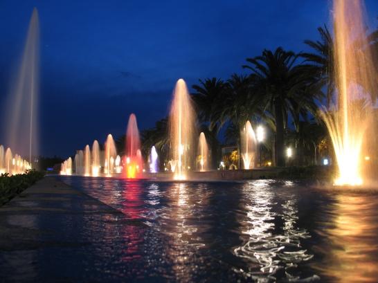 Die Stadt Salou am Abend - Unterhaltung für Urlauber