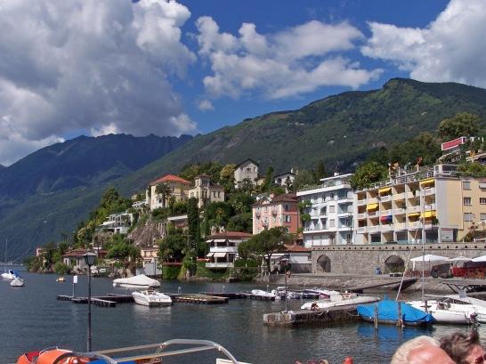 Die Stadt Ascona am Lago Maggiore.