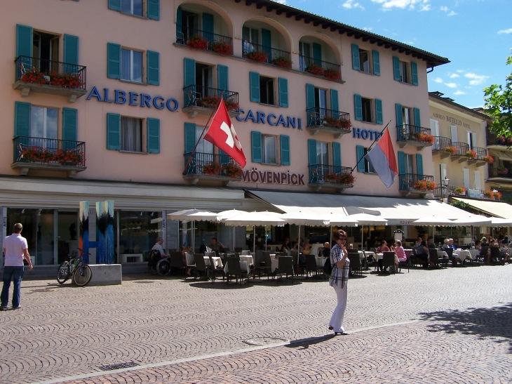 Die Altstadt von Ascona am Lago Maggiore.