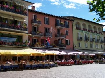 Die Restaurantmeile von Ascona.