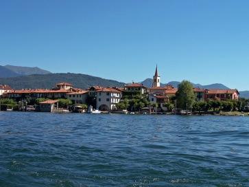Die Insel Pescatori auf dem Lago Maggiore.