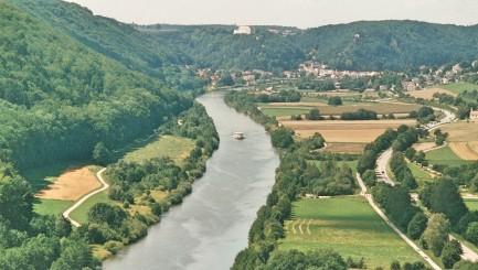 Blick auf die Donau bei Kehlheim.