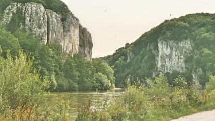 Der Donaudurchbruch bei Kehlheim.