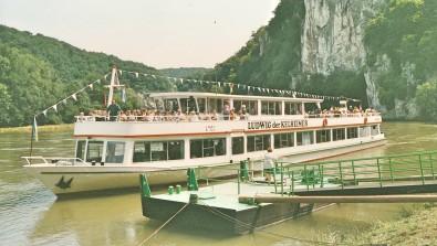 Schifffahrt auf der Donau bei Weltenburg.