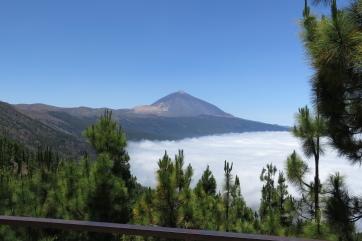 Der Teide über den Wolken.