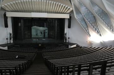Das Auditorio - großer Konzertsaal mit 1650 Plätzen und großer Orgel.