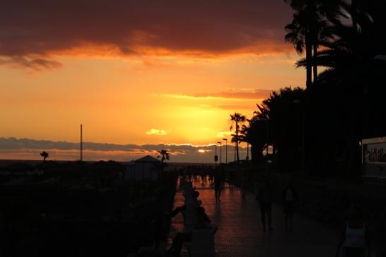 Sonnenuntergang in Costa Adeje.