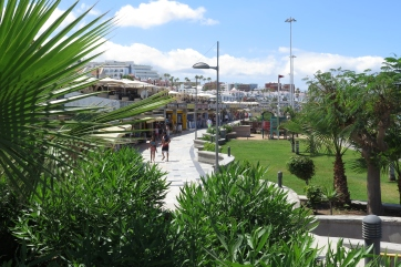 Die Stadt Playa de Fanabe.