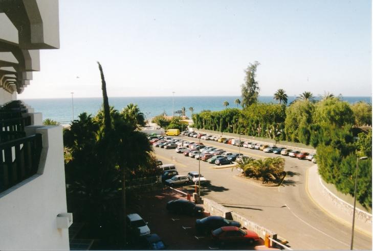 Blick vom Hotel auf das Meer.