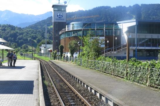Bahnhof der Bayerischen Zugspitzbahn.