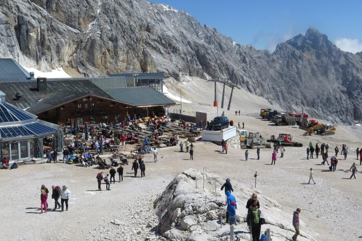 Das Skizentrum Schneefernerhaus.