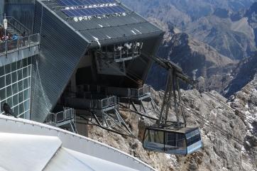 Die Zugspitz-Bergstation.