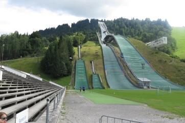 Die Sprungschanzen in Garmisch.