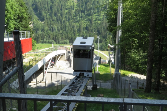 """Die Skiflugschanze """"Heini Klopfer"""" in Oberstdorf."""