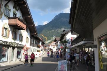 Auf dem Weg zur Nebelhornseilbahn in Oberstdorf.