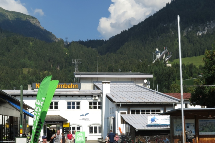 Die Nebelhornseilbahn in Oberstdorf.