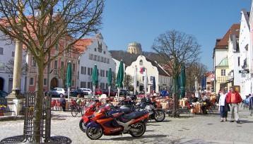 Zentrum von Kelheim.